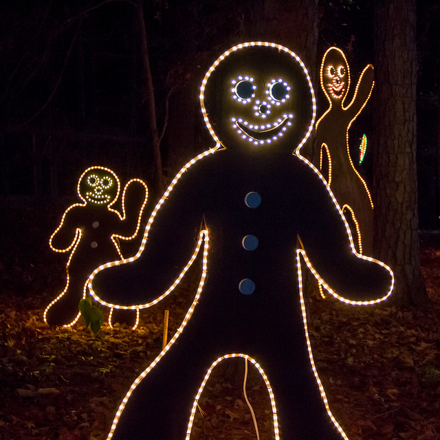Christmas Lights at Garvan Gardens - Gingerbread Men