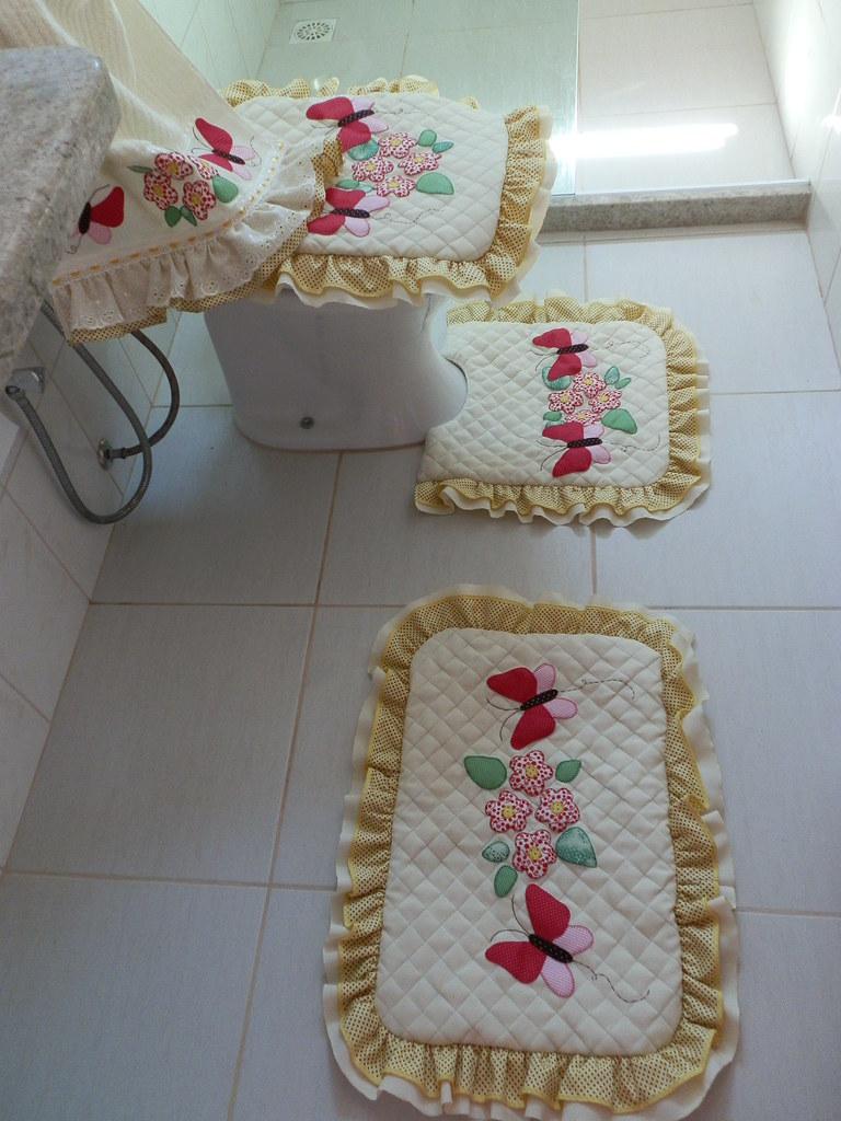 Toalha Banho Com Flores Em