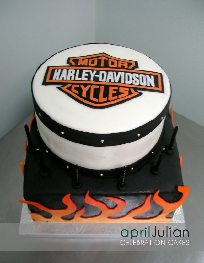Harley Davidson Birthday Cake For A Harley Lovin Guy Flickr