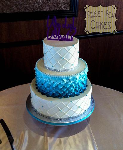 Ombre Petal Wedding Cake
