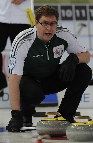 Edmonton Ab.Mar6,2013.Tim Hortons Brier.P.E.I. skip Eddie MacKenzie.CCA/michael burns photo | by seasonofchampions