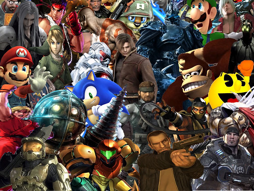 Video Game Character Collage Wallpaper Video game coll...