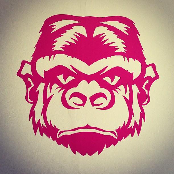 Monkey Stencil Monkey Stencil Red
