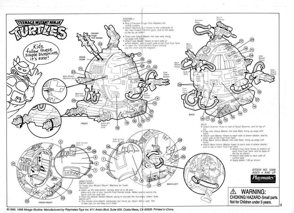 Blueprint for Technodrome Scout Vehicle | Maxim Kuzmenko | Flickr