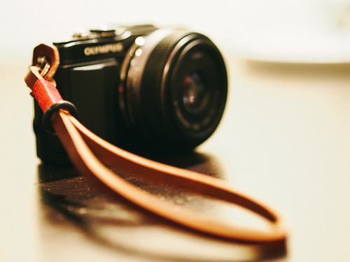 One of Gordy's Camera Straps | by shawnblanc