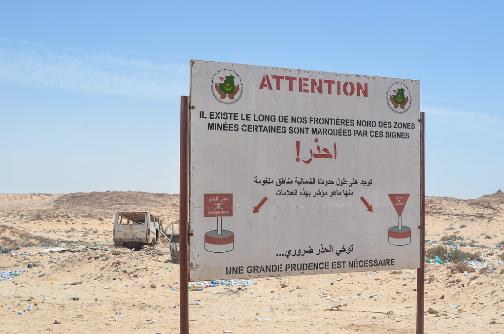Western Sahara Mauritania Border In Guarguarate Taken