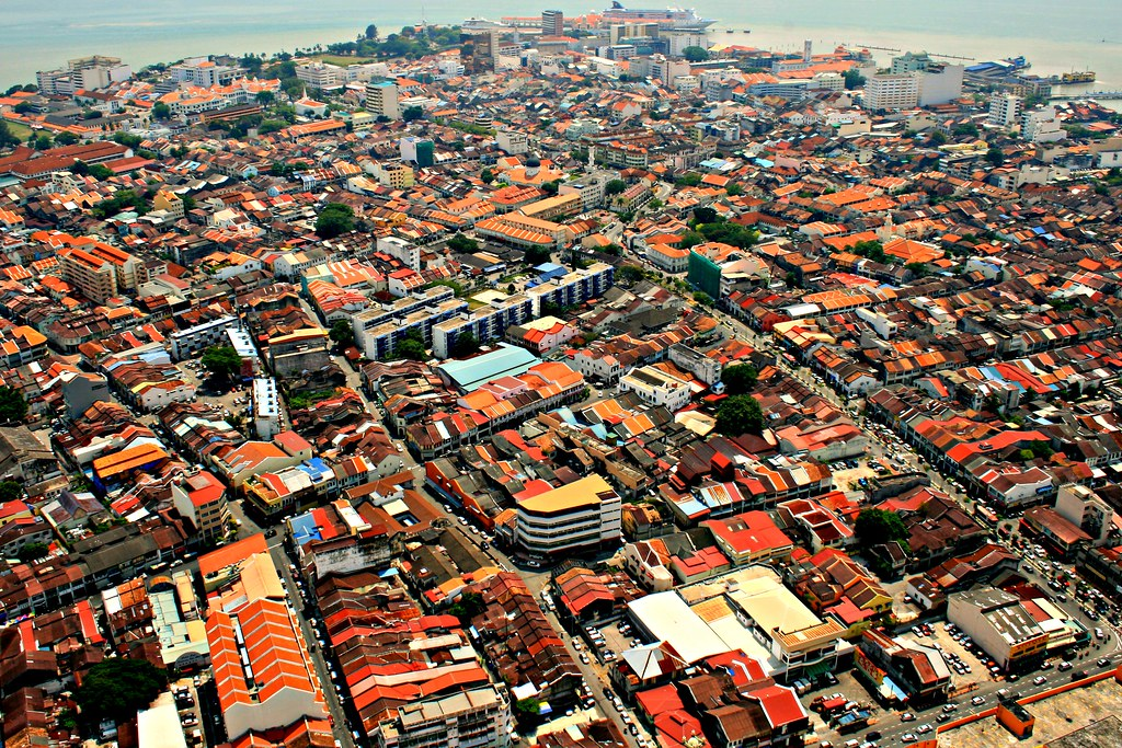 Georgetown Malaysia View From Komtar Tower David