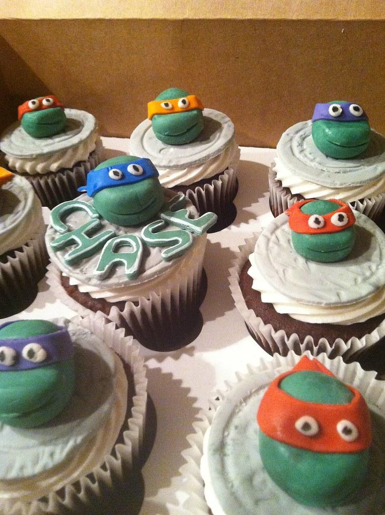 Ninja Turtle Fondant Cupcake Toppers Ninja Turtles Handmade Fondant Cupcake Toppers
