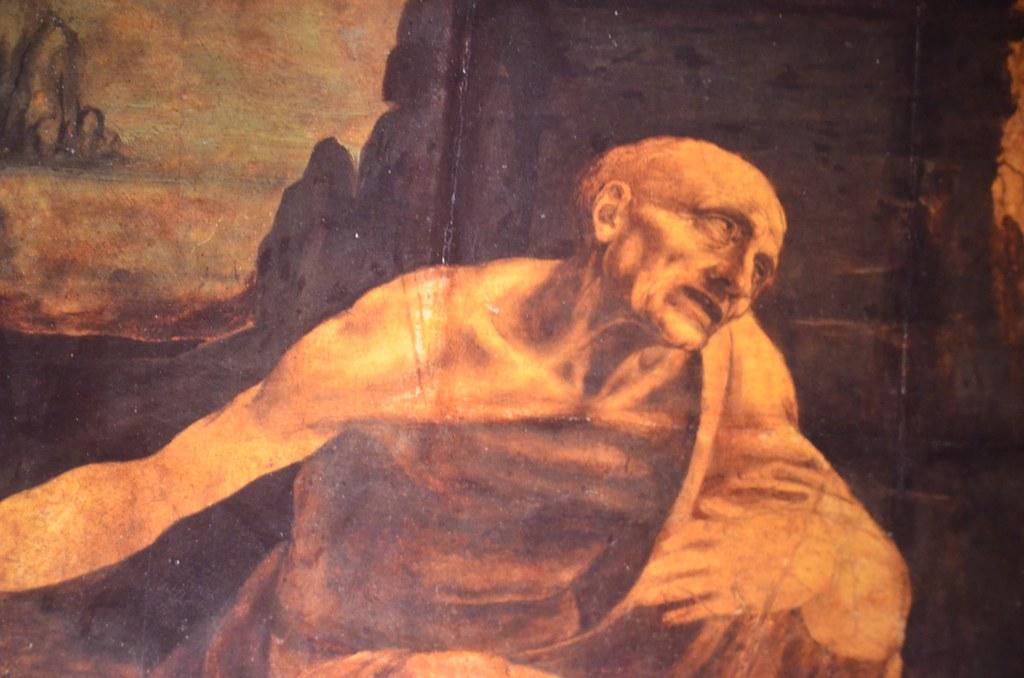 Leonardo da Vinci, St. Jerome in the Wilderness, unfinishe ...