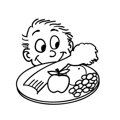 copyright free cartoon drawing of kid looking at healthy f flickr