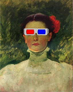 Portrait of Maggie Wilson Watching a 3-D Movie, after Frank Duveneck | by Mike Licht, NotionsCapital.com