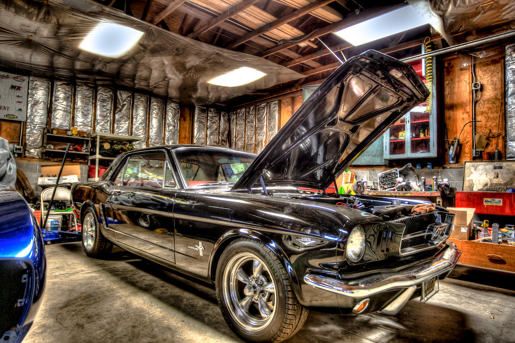 classic ford mustang in the garage martin haschke flickr. Black Bedroom Furniture Sets. Home Design Ideas
