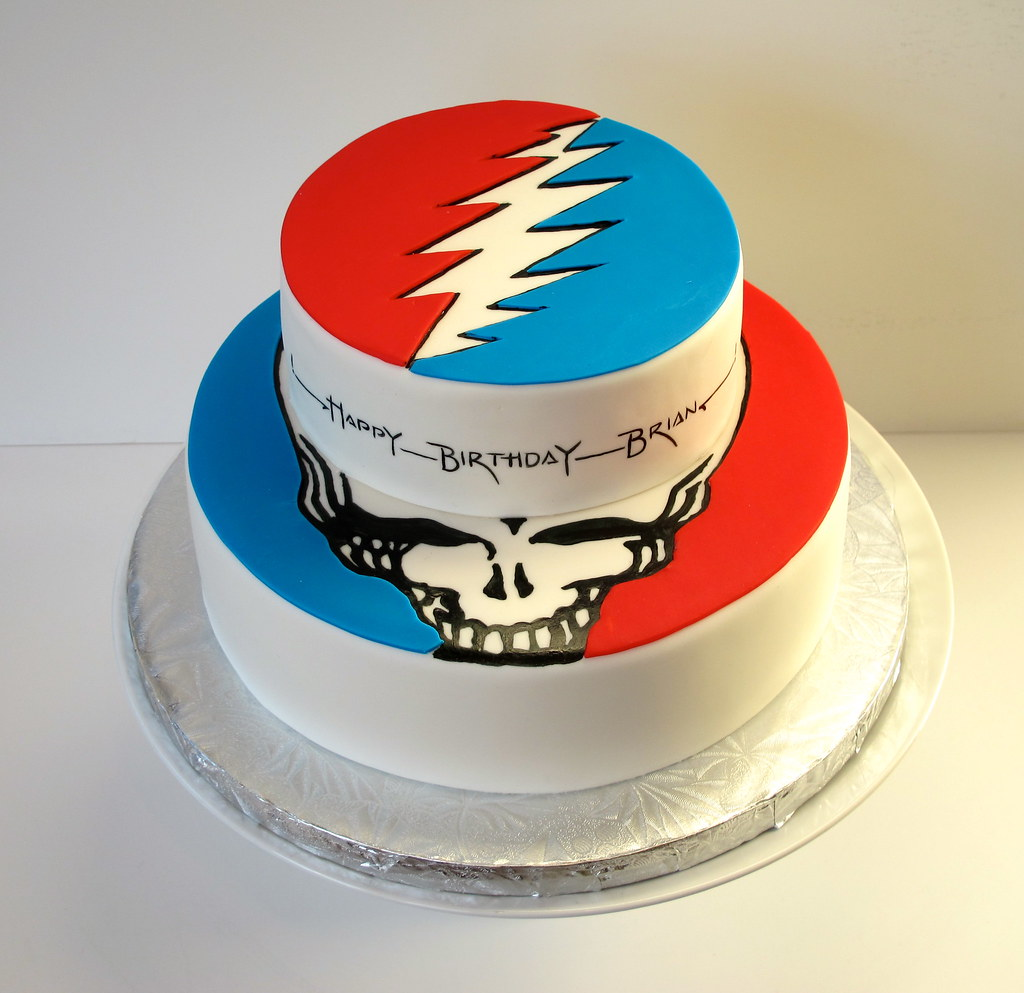 Grateful Dead Cake By Julia Bozzolo S Distinct Cakes