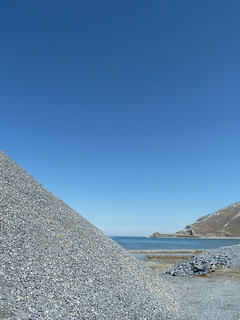 Pile of gravel for road construction on shore of Lake Van | by mattkrause1969