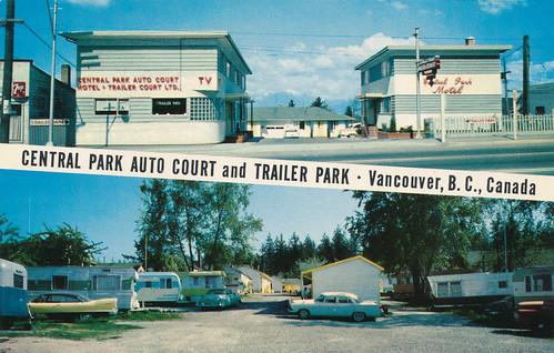 postcard central park auto court central park au flickr. Black Bedroom Furniture Sets. Home Design Ideas