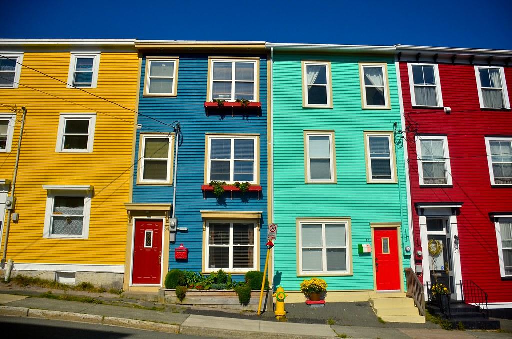 Jellybean row st john 39 s nl beautiful row of homes for Newfoundland houses