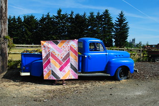 Broken Herringbone Quilt Blogged Fabric Madrona Road By