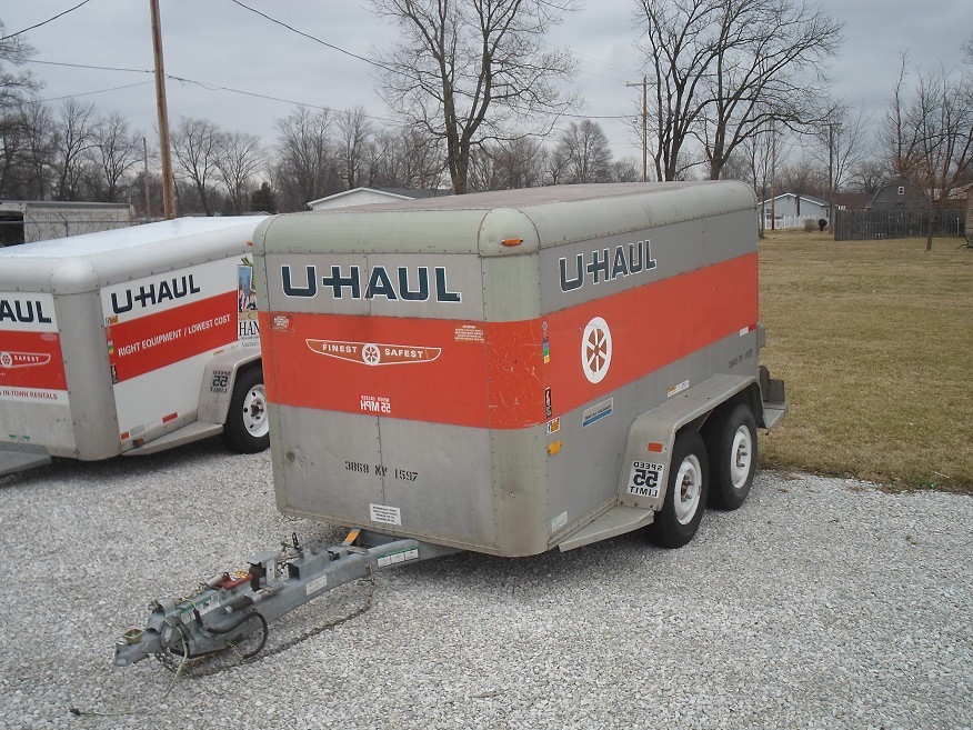 Vintage 5x10 Uhaul Cargo Trailer This One Is An Oldie