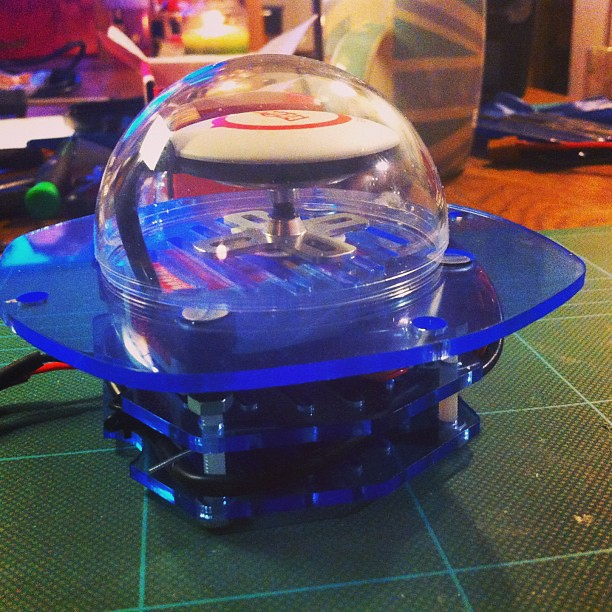 Our custom designed and built Aquacopter housing from XtremeVision360