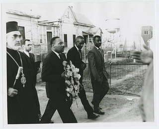 Alabama civil rights movement: Selma to Montgomery march: Iakovos, Archbishop of the Greek Orthodox Archdiocese of North and South America with Martin Luther King, Jr. (Monday, March 15, 1965) | by Penn State Special Collections Library