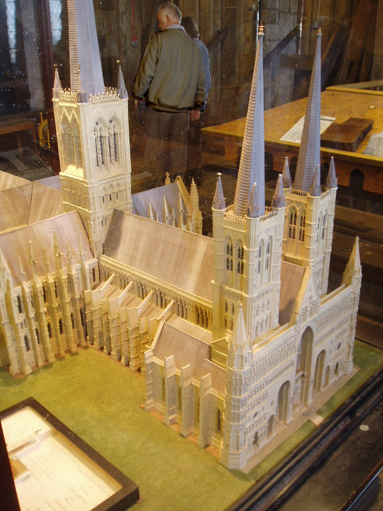 Model With Spires Lincoln Cathedral Model Displayed