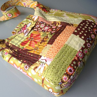 Quilt as you go patchwork school bag | by Antípodas