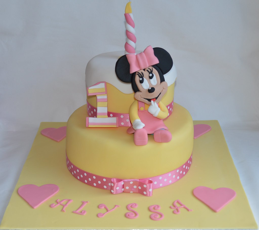 Baby minnie mouse disney cake 1st birthday cake topper dec for 1st birthday cake decoration