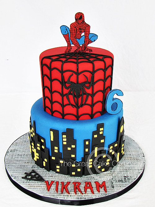 Spiderman Face Cake Topper