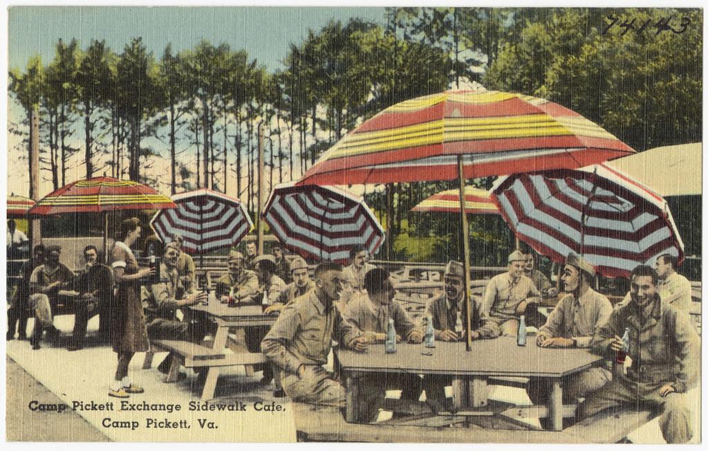 Camp Pickett Exchange Sidewalk Cafe, Camp Pickett, Va ...