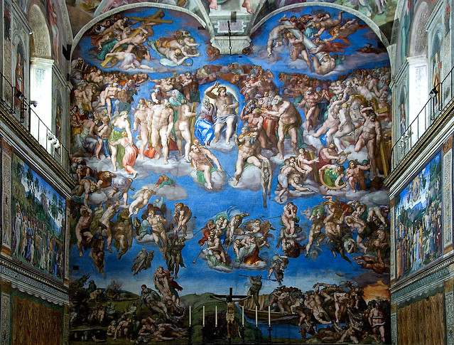 The Last Judgment, Michelangelo, Sistine Chapel, Rome ...