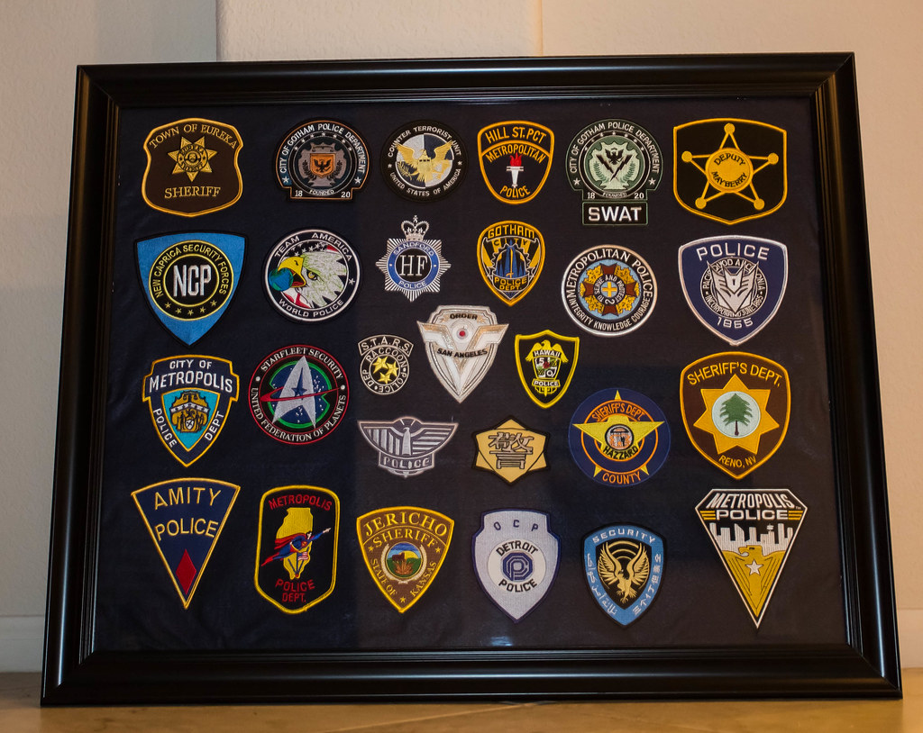 Tv And Movies Fictional Law Enforcement Patch Display Flickr