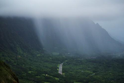 Rain Yes I Got Wet Pali Highway Outlook Oahu Island
