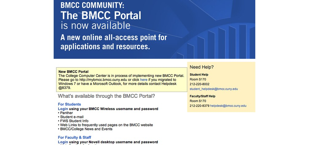 Awesome ... Borough Of Manhattan Community College Portal | By CUNYLab2013