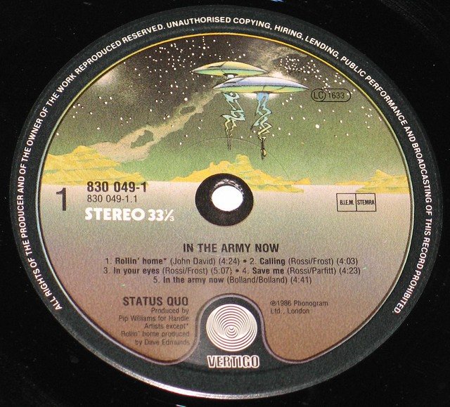 "Status Quo In The Army Now 12"" LP 12"""