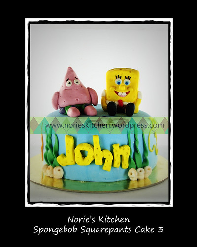 Norie's Kitchen - Spongebob Squarepants Cake 3