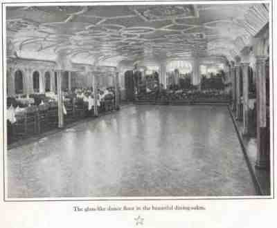 1st Class Dinning Room Of R M S Olympic Turned Into Dance