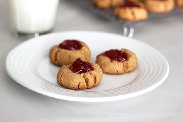 Grain-Free Peanut Butter & Jelly Cookies - Gluten-free + Vegan