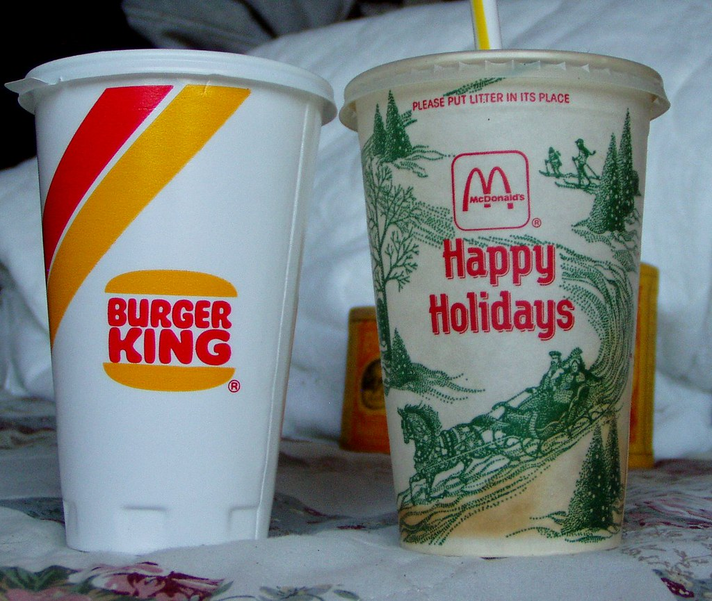 Vintage Mcdonalds And Burger King Cups The Mcdonalds Cup