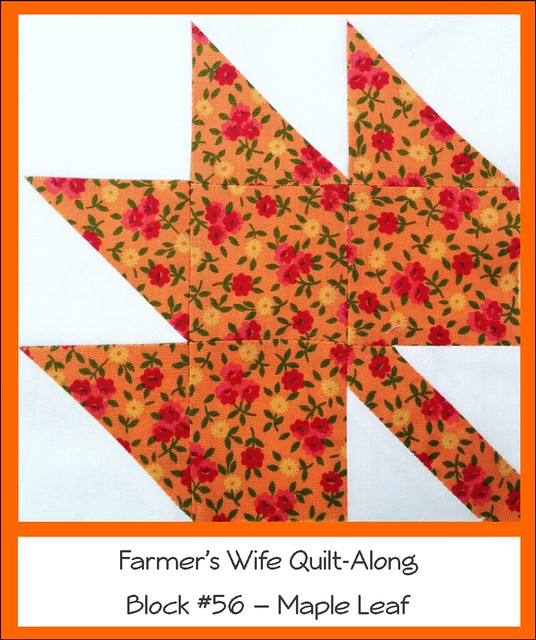 Garden Leaf Blocks : Farmer s wife quilt along block maple leaf flickr