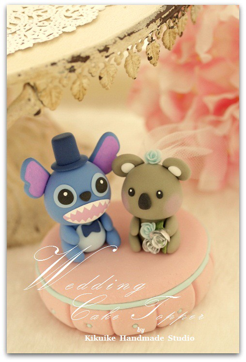 Love Stitch & Koala Wedding Cake Topper | www.etsy.com/shop/… | Flickr