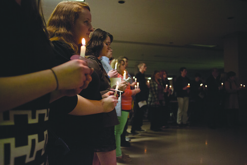 Candle light vigil for tornado anniversary | by DailyEgyptian