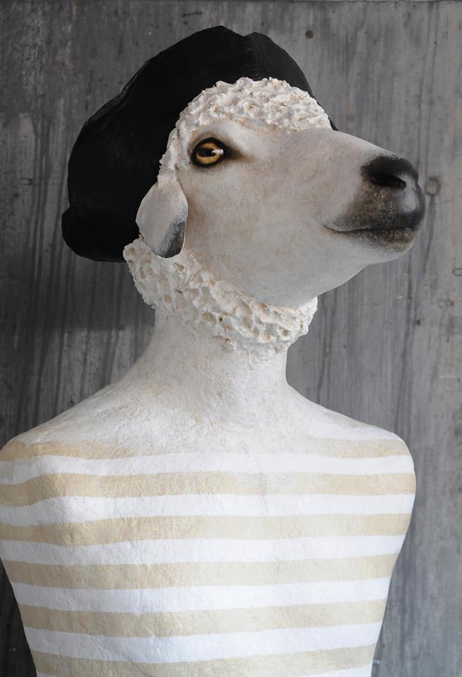 papier m ch sheep created by m lanie bourlon blogged ww flickr. Black Bedroom Furniture Sets. Home Design Ideas