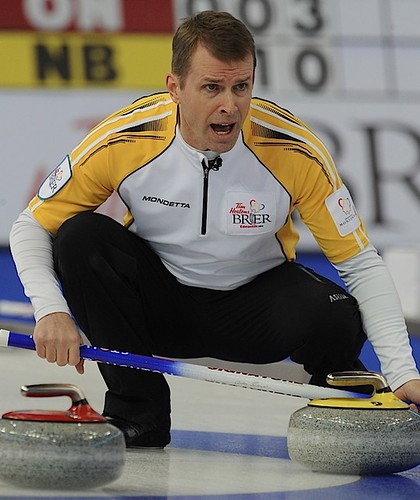 Edmonton Ab.Mar6,2013.Tim Hortons Brier.Manitoba skip Jeff Stoughton.CCA/michael burns photo | by seasonofchampions