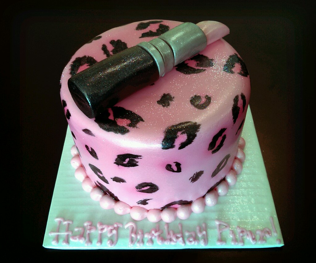 Pink Cheetah Birthday Cakes