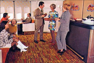 Continental 747  Ponape Lounge, Airline attendant | by 1950sUnlimited