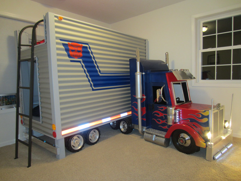 New Holland Tractor Bedding : Brayden s optimus prime transformer bed final dave scha
