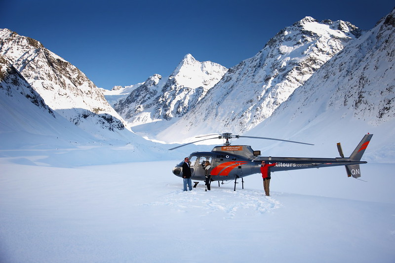flying into the glacier country around mt. Cook