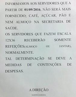 cartaz corte café servidor