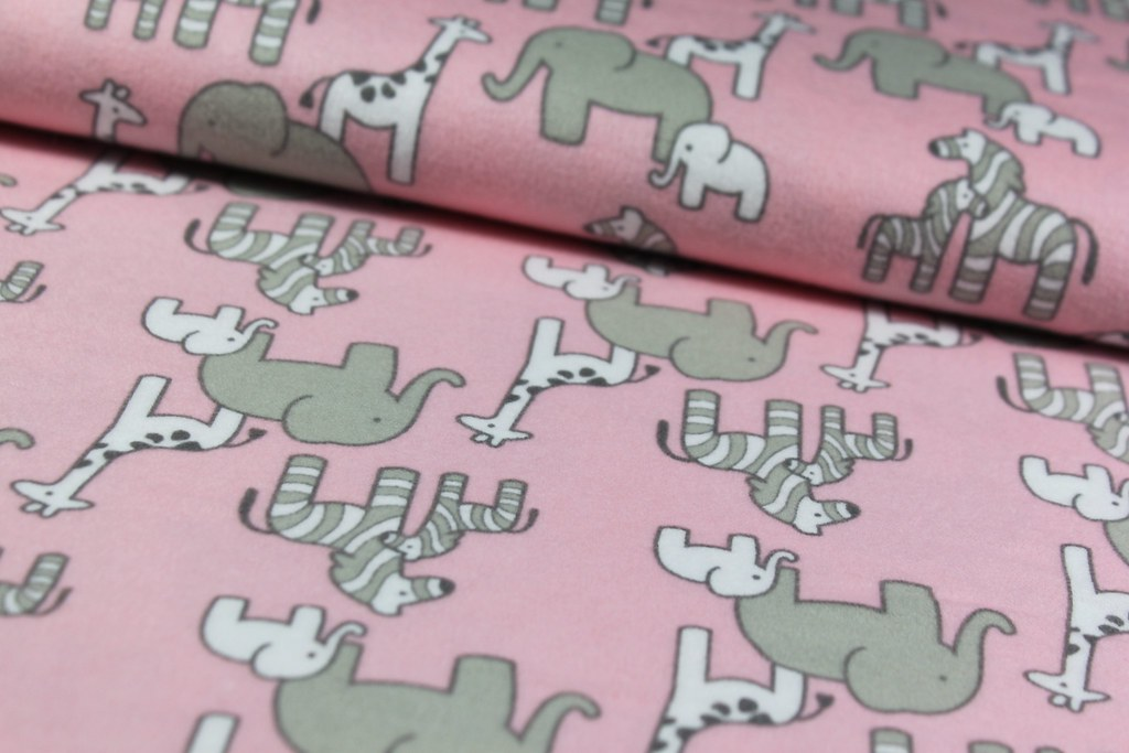 "Organic Fleece ""Little Safari"", rosa"
