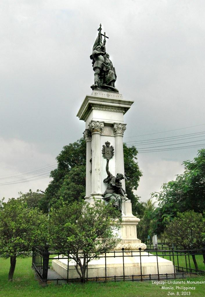 Legazpi Urdaneta Monument Manila Philippines Jan 8 20